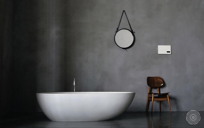 Naadloze badkamer muur